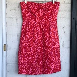 J. Crew linen strapless dress